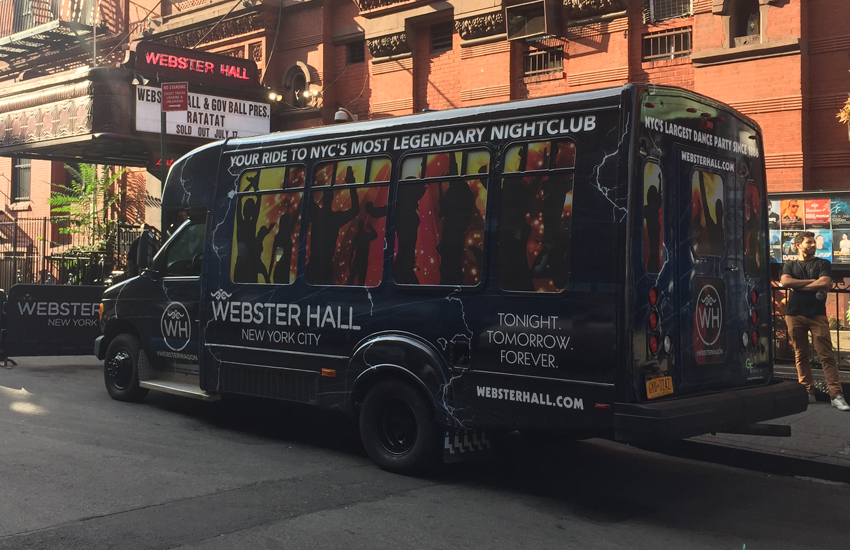 Vehicle Wrap for Webster Hall